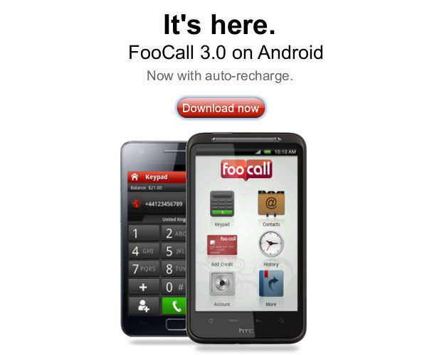 FooCall Version 3.0