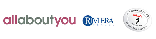 All About You and Riviera Travel logos
