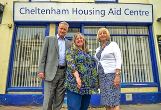We donated to Cheltenham Housing Aid Centre!