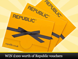 WIN £100 worth of Republic vouchers