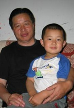 Gao Zhisheng with his son