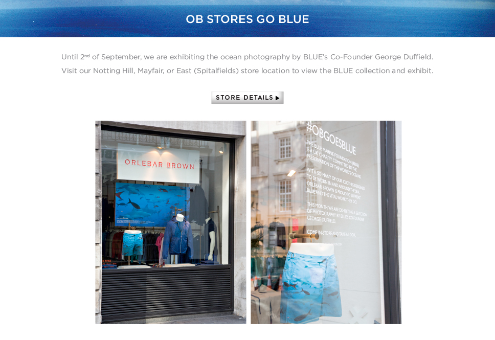 OB Stores Go Blue – View the website
