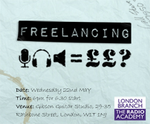 London Branch Event: Freelancing