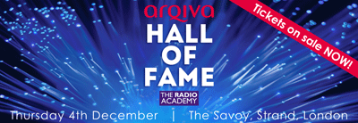 Arqiva Hall of Fame Radio Academy Lunch - tickets on sale NOW!