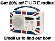 Get 20% off Pure radios!