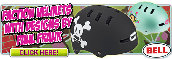 Bell Faction Helmets with designs by Paul Frank!
