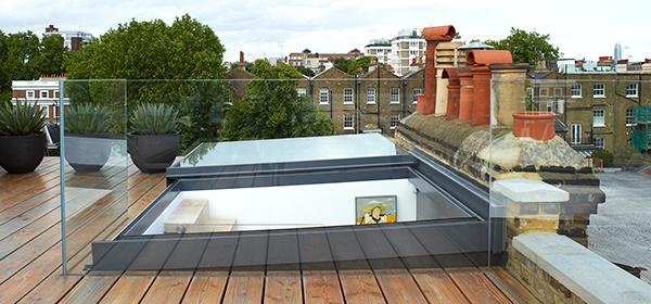 Three Wall Box Rooflight at Clock Tower Conversion