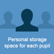 Personal storage for each pupil