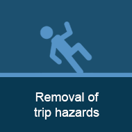Removal of trip hazards